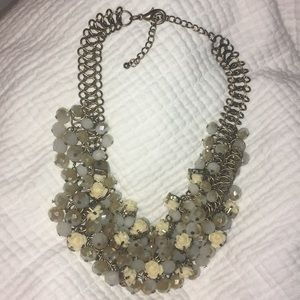Vintage beaded multi layers choker necklace